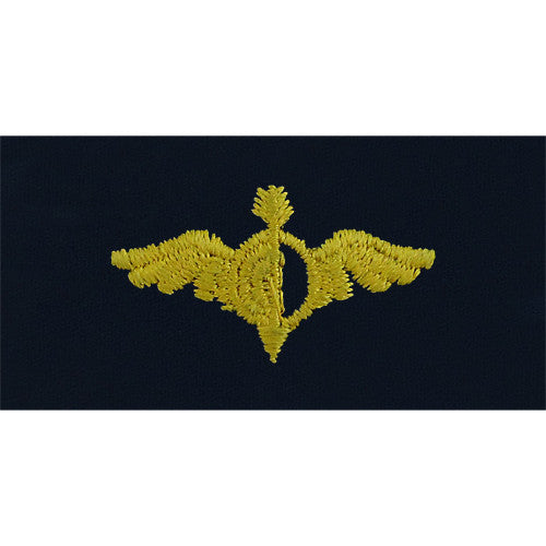 Navy Aerographer Embroidered Coverall Collar Device