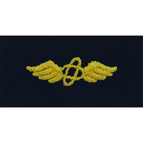 Navy Aviation Electronics Technician Embroidered Coverall Collar Device