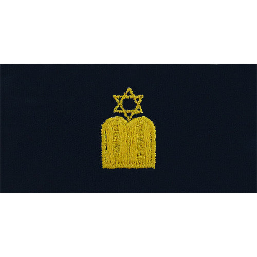 Navy Jewish Chaplain Embroidered Coverall Collar Device