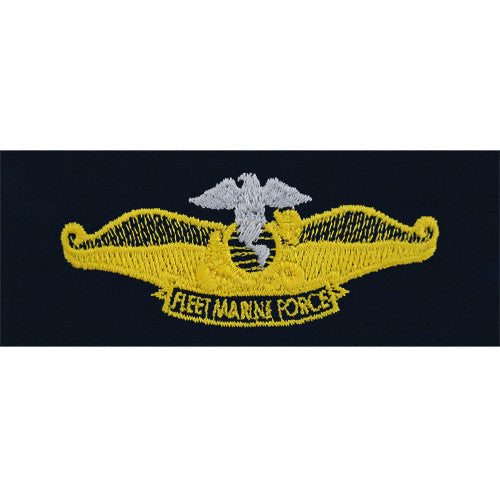 Navy Chaplain Fleet Marine Force Embroidered Coverall Breast Insignia