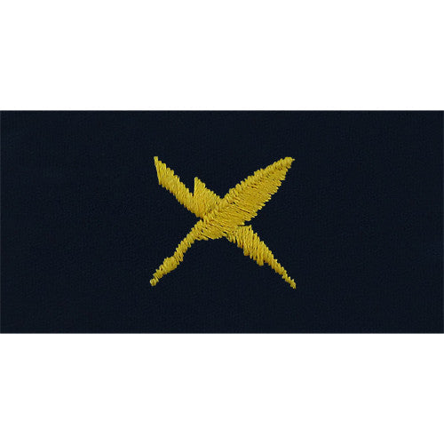 Navy Cryptology Technician Embroidered Coverall Collar Device