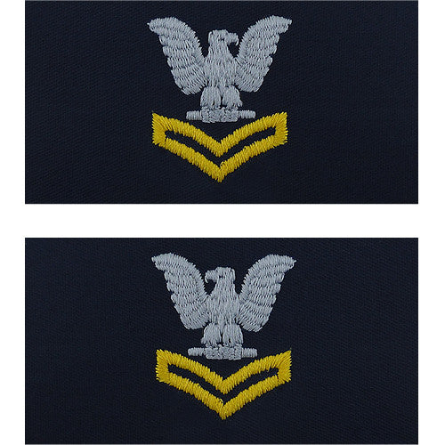 Navy Embroidered Coverall Collar Insignia Rank Usamm