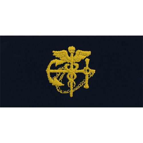 Public Health Service Gold Anchor with Caduceus Embroidered Coverall Collar Device
