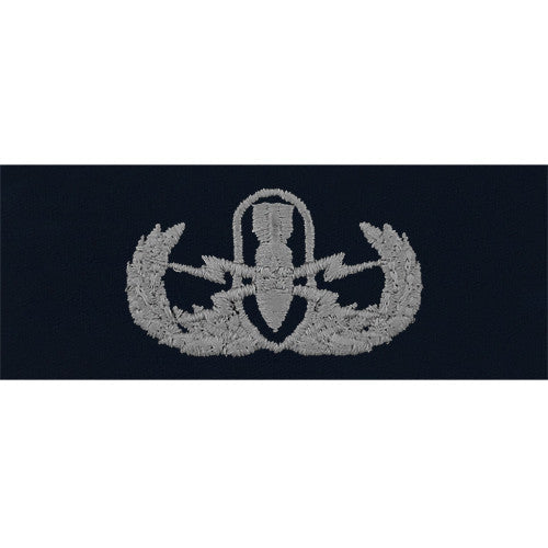 Navy Explosive Ordnance Disposal Warfare Embroidered Coverall Breast Insignia