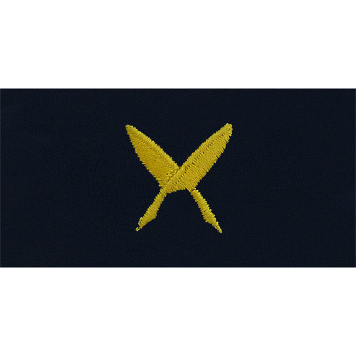 Navy Ships Clerk Embroidered Coverall Collar Device