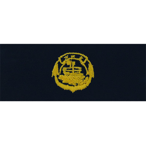 Navy Small Craft Embroidered Coverall Breast Insignia - Officer in Charge