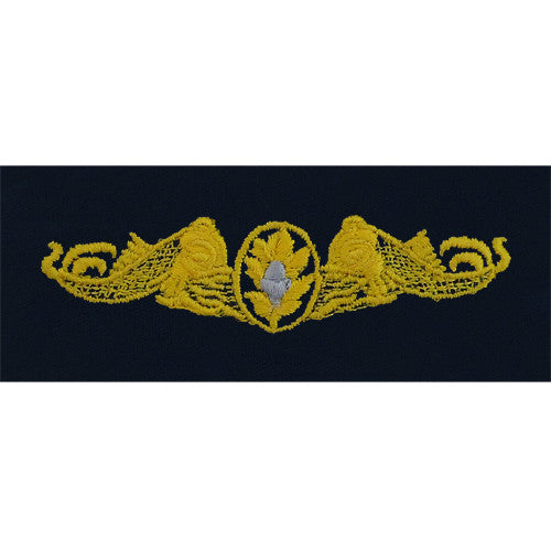 Navy Submarine Medical Embroidered Coverall Breast Insignia