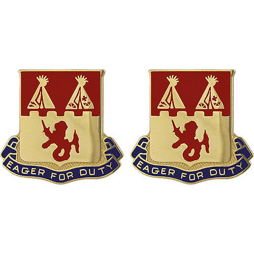 157th Field Artillery Regiment Unit Crest (Eager for Duty)