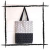 Zero-Waste B&W Velvet Shopper
