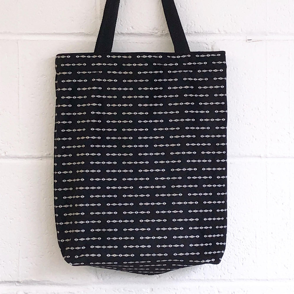 Zero-Waste Black Velvet Shopper
