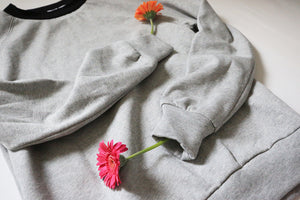 Unisex Organic Cotton Sweatshirt / Plain marl grey
