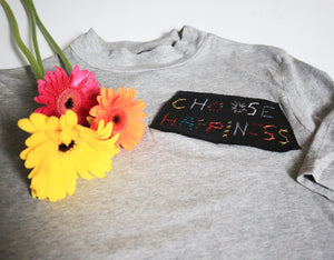 Choose happiness patch tee