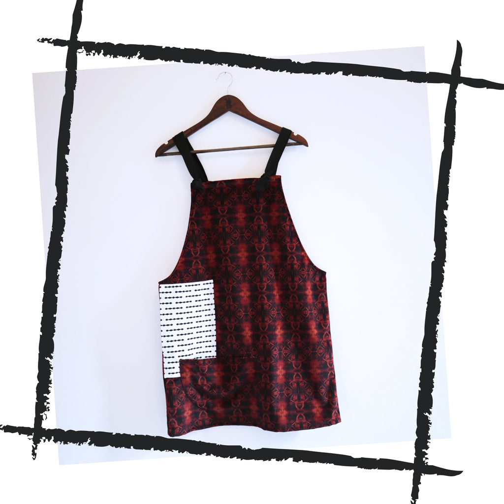 Patchwork Dungaree Dress // 0.1