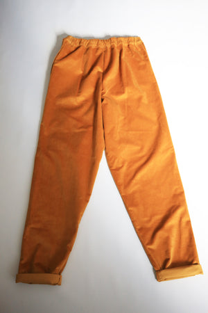 Organic Cotton Tapered Corduroy Trousers