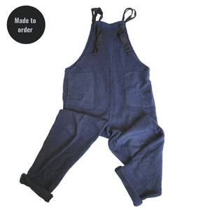 Organic cotton blue dungarees