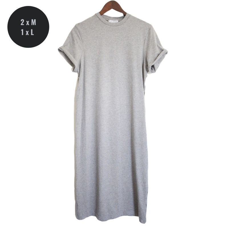 Oversized T-shirt Dress // Grey