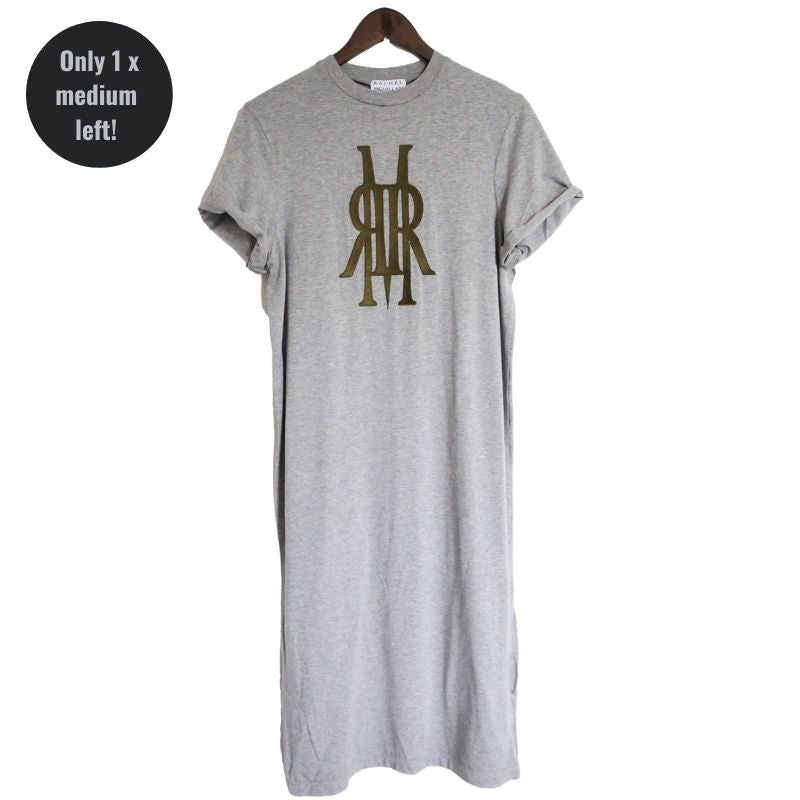 Bamboo Logo Dress Grey/ Green
