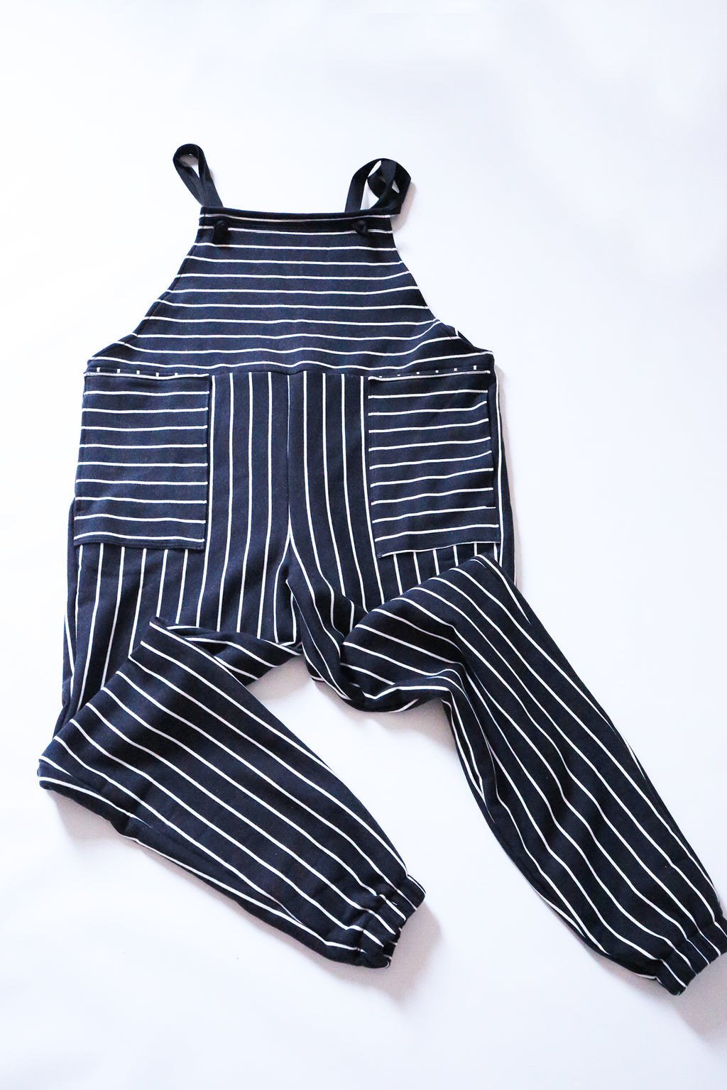 Organic Cotton Striped Dungarees