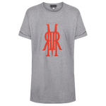 Organic Cotton Tee Grey / Orange