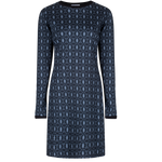 Long Sleeve Blue Rib Dress