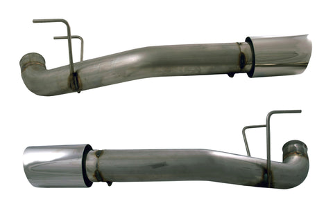 "Muffler Delete Tail Pipes w/ 4"" Exhaust Tips, 2011-14 Ford Mustang GT, 5.0L"