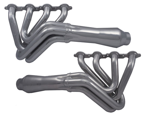 Long Tube Headers with Resonators, Straight Back Exit, Sand Rail applications, 4.8L-6.2L LS Motors
