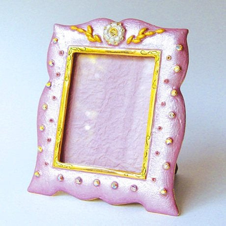 Baby Pink Blue Green Swarovski Crystals Picture Frame for a 2 x 2 inch Photo ...