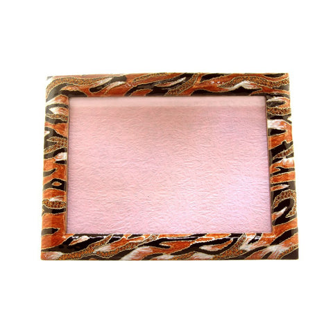 "5"" x 7"" Inch Jungle Tiger Striped Photo Frame Set with Swarovski Crystals"