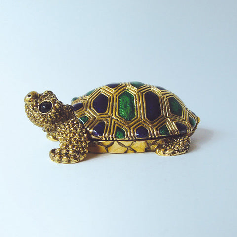 Miniature Frog Box Swarovski crystals Figurine Toad Keepsake, Jewelry, Trinket or Pill Box