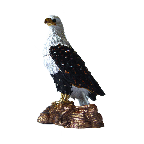 American Bald Eagle Figurine Box