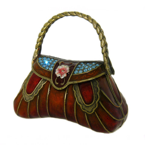 Copper Orange Red Purse Box