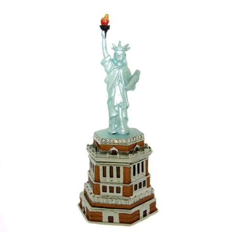 Swarovski Crystals Statue of Liberty New York City Pill Box Patriotic Ring or...