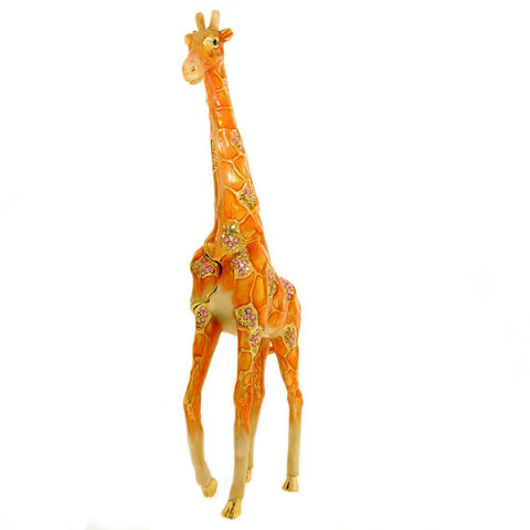 Large Walking Standing Giraffe Box - Swarovski Crystals, Jewelry, Trinket or Keepsake Box