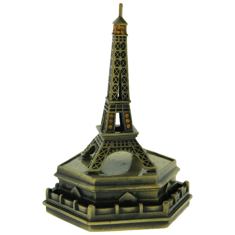Eiffel Tower Statue Keepsake Box Swarovski Crystals French Souvenir Pill Box ...