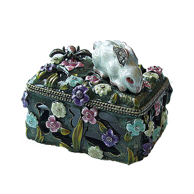 Bunny Dragonfly Trinket Box