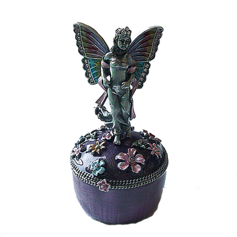 Fairy Angel Butterfly Figurine Box