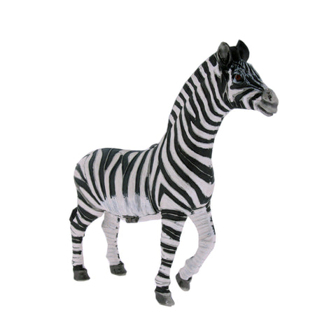Realistic African Zebra Figurine Keepsake Box Set with Swarovski Crystals