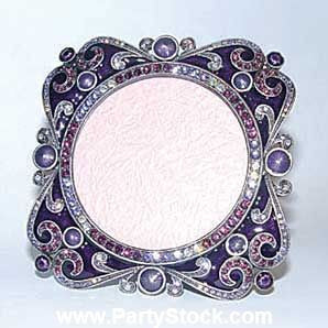 "Lavender Violet Ornate 2""x 2"" Frame Set with Swarovski Crystals"
