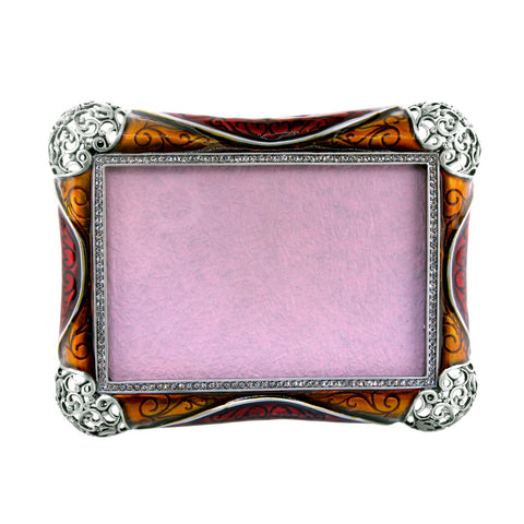 "3.5"" x 5"" Inch Scrolled Filigree Photo Frame Set with Swarovsk..."