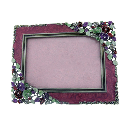 "3.5"" x 5"" Inch Roses Photo Frame Set with Swarovski Crystals Picture Cutaway ..."