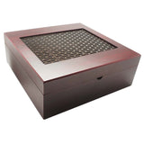 Velvet Lined Bronze Grated Tea Box Bundle - Includes 50 Tazo Tea Bags