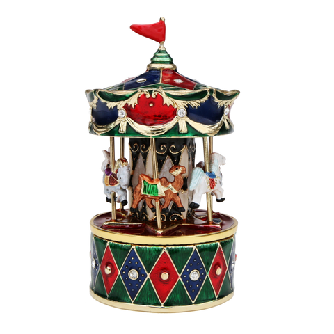 Revolving Animals Carousel Music Box