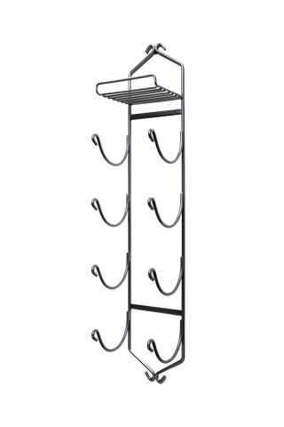 XL Chrome Towel Rack with Shelf