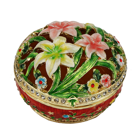 Lily Flowered Cutoff Figurine Box