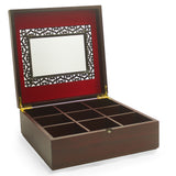 Velvet Lined Black Honeycomb Screen Tea Box Bundle - Includes 50 Tazo Tea Bags