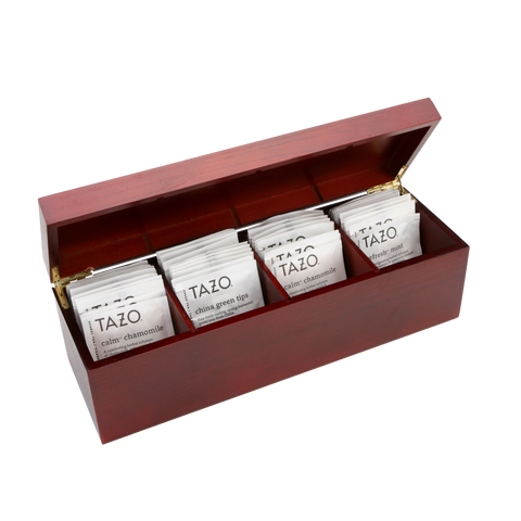 Burled Rosewood Tazo Tea Bundle - Includes 40 Tazo Tea Bags