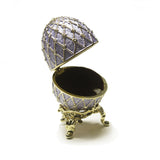 Lavender Faberge Egg Box with Ring Insert