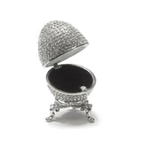 All Crystal Faberge Egg Ring Box