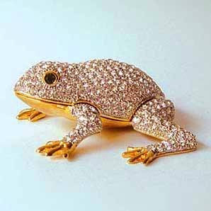 Jumping Frog Box Swarovski Crystals Toad Jewelry, Trinket, Pill Box ...