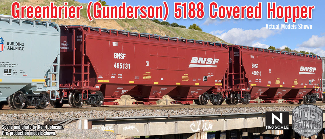 Rivet Counter N Scale Gunderson 5188 Covered Hopper